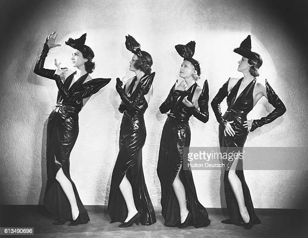 Eileen Moore Thea Carnacno Bunty Pain and Emma Trenchman known as Cochran's young Ladies in Streamline Revue at the Palace Theatre 1934