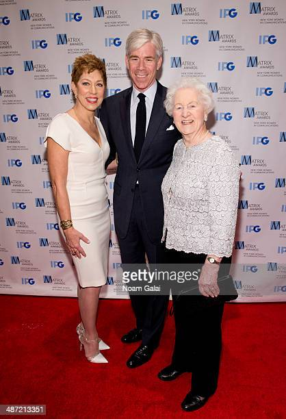 Eileen Naughton and David Gregory attend the 2014 Matrix Awards at The Waldorf=Astoria on April 28 2014 in New York City