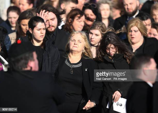 Eileen O'Riordan following the funeral of her daughter and The Cranberries singer Dolores O'Riordan at Saint Ailbe's Church Ballybricken