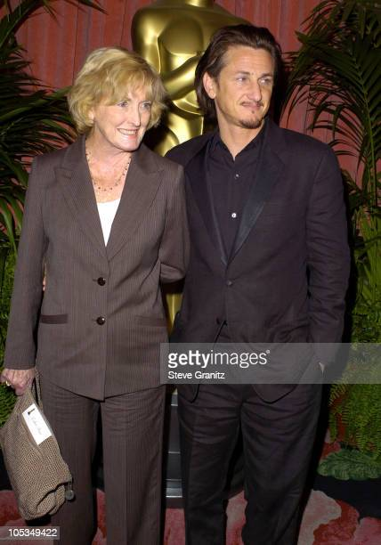 Eileen Ryan and son Sean Penn during The 76th Annual Academy Awards Nominees Luncheon at Beverly Hilton Hotel in Beverly Hills California United...
