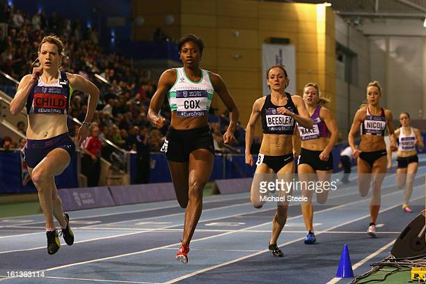 Eilidh Child on her way to victory in the women's 400m final from Shana Cox during day two of the British Athletics European Trials UK Championship...