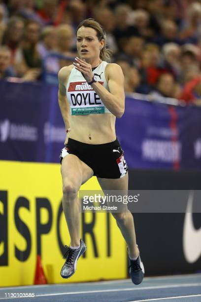 Eilidh Doyle of Great Britain competes in the women's 400m during the Muller Indoor Grand Prix IAAF World Indoor Tour event at Arena Birmingham on...