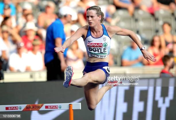 Eilidh Doyle of Great Britain competes in the Women's 400m Hurdles SemiFinal during day two of the 24th European Athletics Championships at...