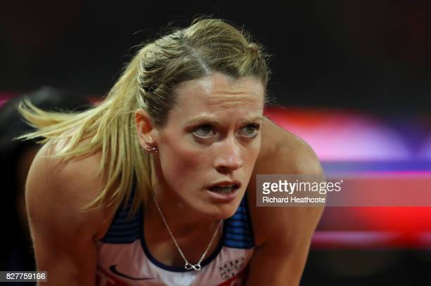 Eilidh Doyle of Great Britain reacts after competing in the Women's 400 metres hurdles semi finals during day five of the 16th IAAF World Athletics...