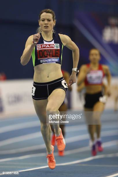 Eilidh Doyle of Pitreavie AAC on her way to victory during the women's 400m semifinal during day one of the SPAR British Athletics Indoor...