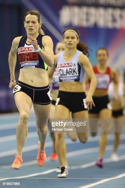 Eilidh Doyle of Pitreavie AAC on her way to victory in the women's 400m final during day two of the SPAR British Athletics Indoor Championships at...