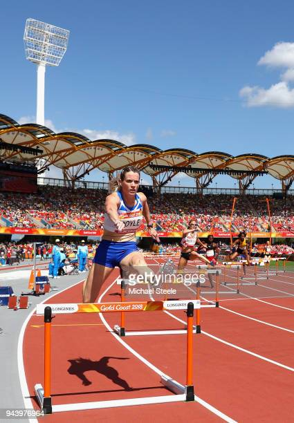 Eilidh Doyle of Scotland competes in the Women's 400 metres hurdles heats during the Athletics on day six of the Gold Coast 2018 Commonwealth Games...