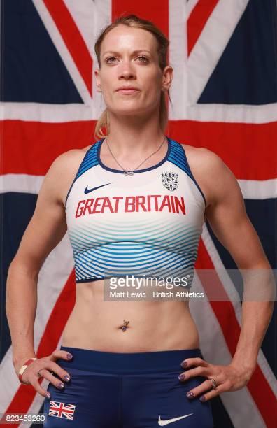 Eilidh Doyle of the British Athletics team poses for a portrait during the British Athletics Team World Championships Preparation Camp July 27 2017...