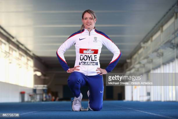 Eilidh Doyle poses during the Glasgow 2018 Muller Grand Prix Media Media Day on November 28 2017 in Bath England