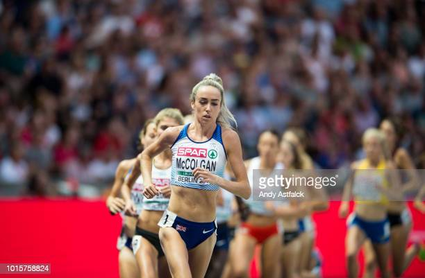 Eilish McColgan from Great Britain and Northern Ireland during the Women's 5000m Final on day six of the 24th European Athletics Championships at...