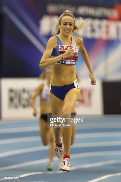 Eilish McColgan of Dundee Hawkhill Harriers on her way to victory in the women's 1500m final during day two of the SPAR British Athletics Indoor...