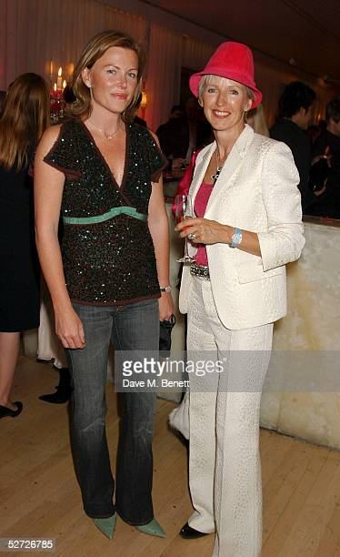 Eimear Montgomerie and Marie Jordan attend the LaurentPerrier Pink Party in aid of The Prince's Trust at the Sanderson Hotel on April 27 2005 in...