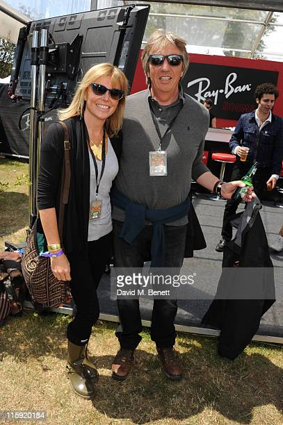Eimear Montgomerie and Nick Cook attend the RayBan Rooms during day two of the Isle of Wight Festival 2011 at Seaclose Park on June 11 2011 in...