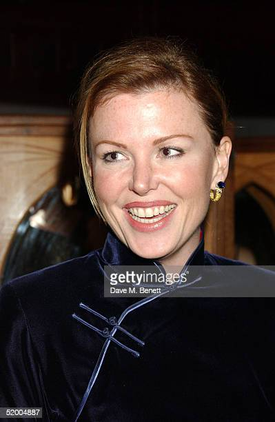 Eimear Montgomerie attends the Marco Pierre White and Frankie Dettori hosted Conservative Party General Election Campaign Fund VIP Private Party at...