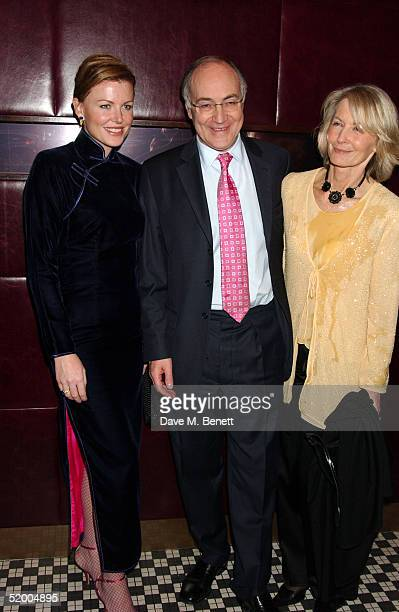 Eimear Montgomerie Conservative Party Leader Michael Howard and wife Sandra Howard attend the Marco Pierre White and Frankie Dettori hosted...