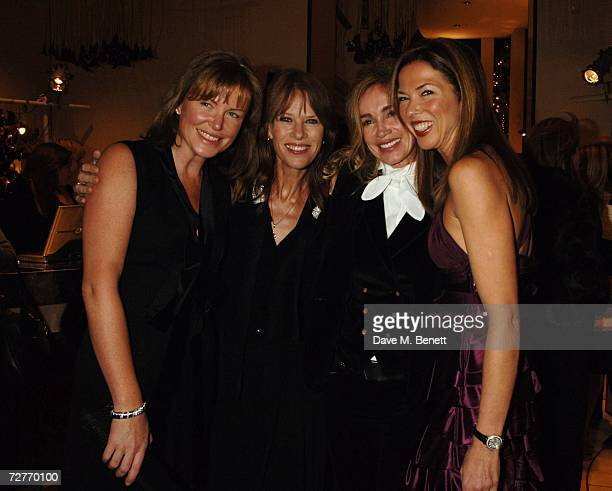 Eimear Montgomerie Nette Mason Angie Rutherford and Heather Kerzner attend Asprey 225th Anniversary party at Asprey on December 7 2006 in London...