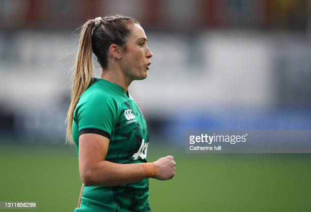 Eimer Considine of Ireland during the Women's Six Nations match between Wales and Ireland at Cardiff Arms Park on April 10, 2021 in Cardiff, Wales....