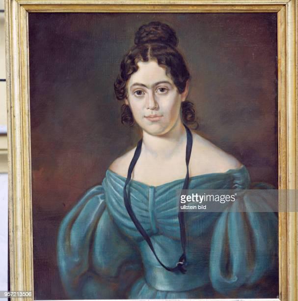 Ein Bildnis um 1835 von Jenny von Westphalen der späteren Ehefrau des Sozialisten Karl Marx im JennyMarxHaus in Salzwedel ihrem Geburtsortm...