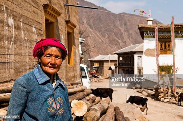 ein Dorf im Naturreservat Meili Xue Shan