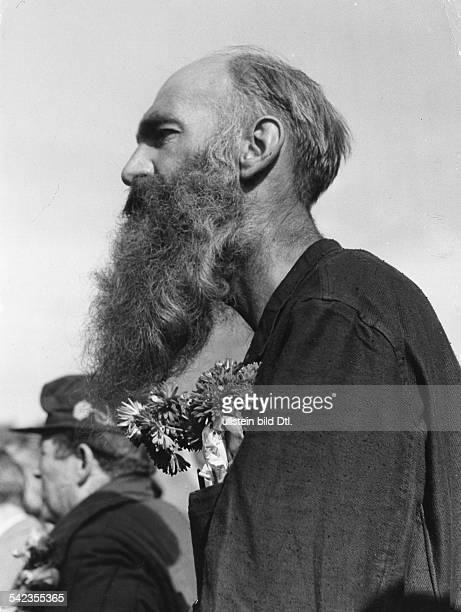Ein Spätheimkehrer aus der UdSSR im Lager Friedland 1955