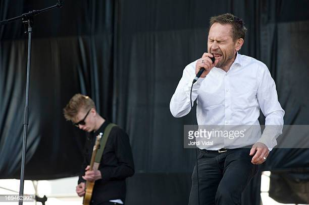Einar Orn Benediktsoon of Ghostigital performs on stage on Day 3 of Primavera Sound Festival at Parc del Forum on May 24 2013 in Barcelona Spain
