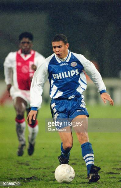 Eindhoven forward Ronaldo in action during a match against Ajax of Amsterdam on January 22 1995 in Amsterdam Holland