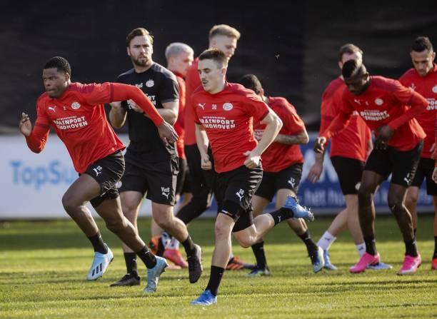 NLD: PSV Eindhoven v Olympiakos Piraeus  - UEFA Europa League Round Of 32 Leg Two
