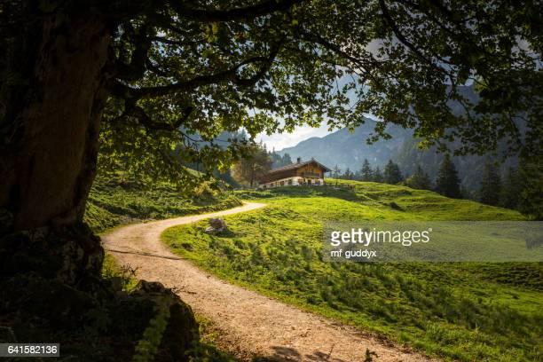 Eine Alm beim Hintersee in Berchtesgaden