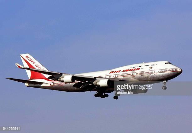 Eine Boeing B747400 der indischen Fluggesellschaft Air India