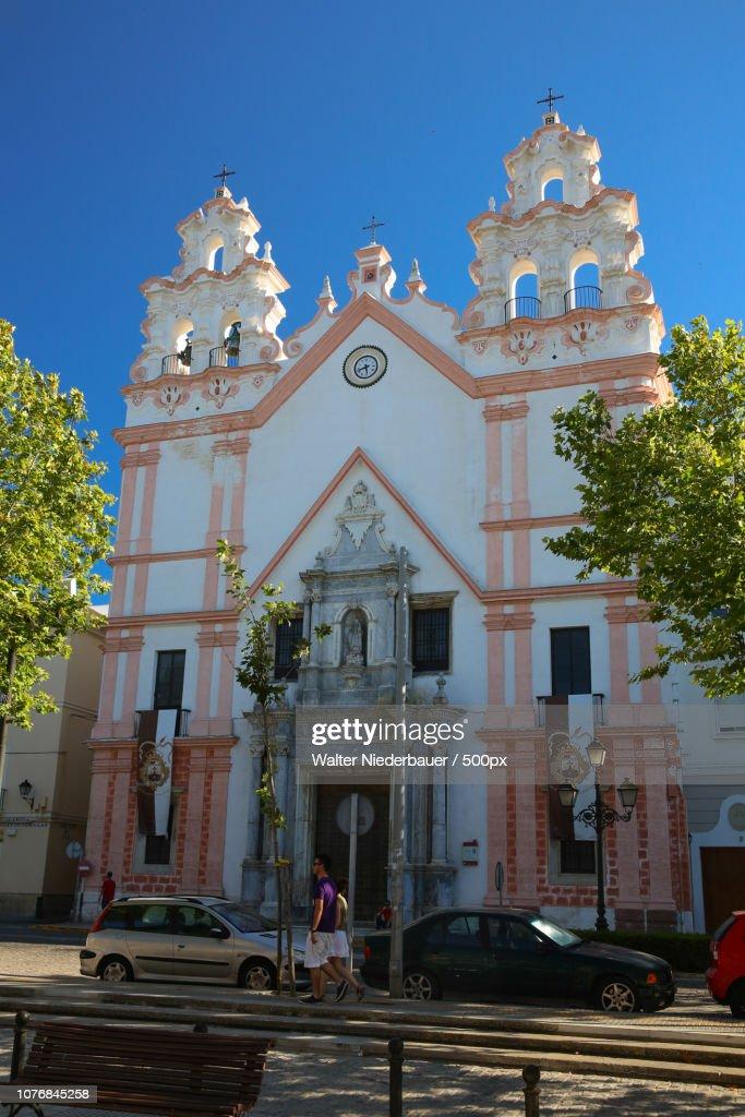 Eine Kirche in Cadiz : Foto de stock