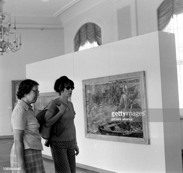 Eine Kunstausstellung in der Orangerie Gera am Foto FSUFotozentrum