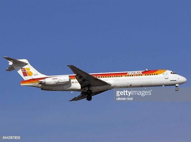 Eine McDonnell Douglas MD87 der spanischen Fluggesellschaft Iberia