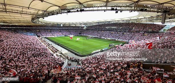 Eine Uebersicht waehrend des Bundesligaspiels zwischen VfB Stuttgart und FC Schalke 04 in der MercedesBenz Arena am 06 August 2011 in Stuttgart...