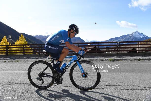 Einer Augusto Rubio Reyes of Colombia and Movistar Team / Breakaway / during the 103rd Giro d'Italia 2020, Stage 20 a 190km stage from Alba to...
