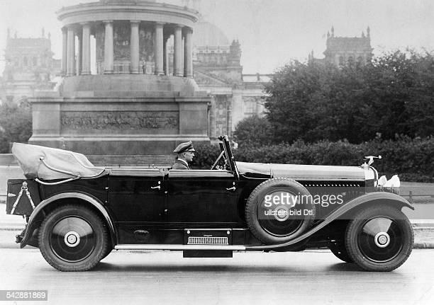 Eines der teuersten Autos der Welt30 / 150PS Hispano Suiza KabriolettPreis etwa 48000 Mark' Aufnahmeort Berlin Siegessäule vorReichstag...