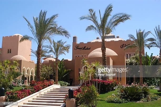 """Eingang zum """"Grand Makadi"""" , Makadi Beach bei Hurghada, Ägypten, Afrika, , Palmen, Säule, Säulen, Treppe, orientalisch, Luxus, Luxushotel, Prod.-Nr.:..."""