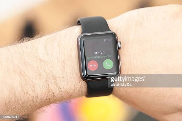 Eingehender Anruf auf Apple Smart Watch