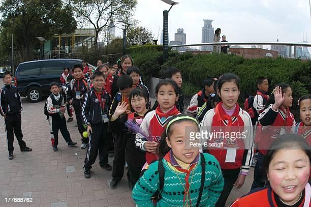 Einheimische Kinder Bund Center Shanghai China Asien Reise Kind Chinese Parkanlage Reise PH