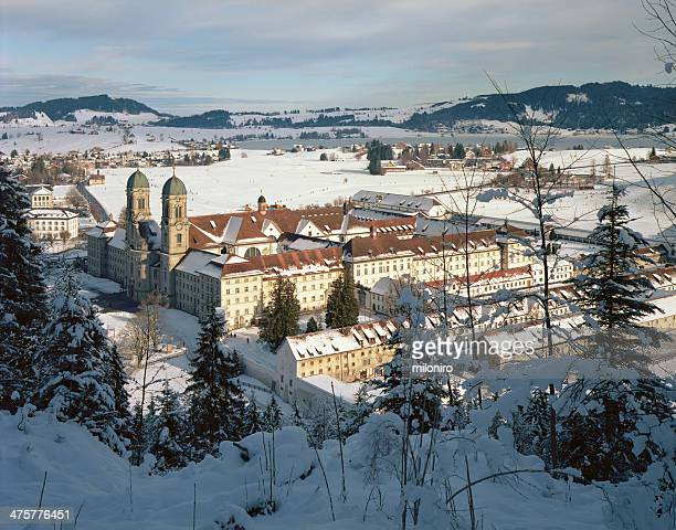 einsiedeln abbey (kloster einsiedeln) - miloniro stock pictures, royalty-free photos & images