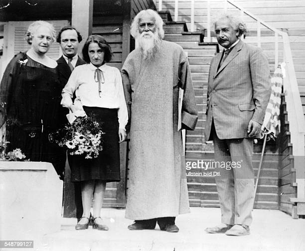 Einstein Albert physicist Germany/USA *14031879 the Indian author and philosopher Rabindranath Tagore visiting Einstein in Caputh on the left the...