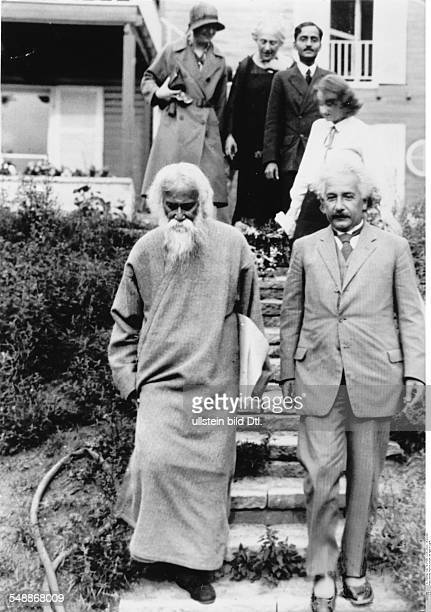Einstein Albert physicist Germany/USA *14031879 the Indian author and philosopher Rabindranath Tagore visiting Einstein in Caputh Published by...