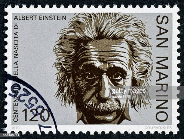 einstein stamp - albert einstein stock pictures, royalty-free photos & images