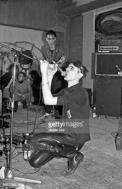 Einstuerzende Neubauten - Band, Punkrock, Alternative, Germany - during Documenta 7 in Kassel, Germany -