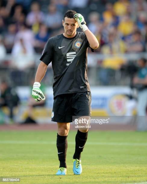 FUSSBALL 1 BUNDESLIGA SAISON Eintracht Braunschweig Werder Bremen Torwart Marjan Petkovic ist enttaeuscht