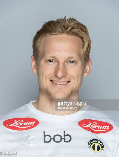 Eirik Birkelund of Team Sogndal Fotball during Photocall on March 22 2017 in Sogndal Norway