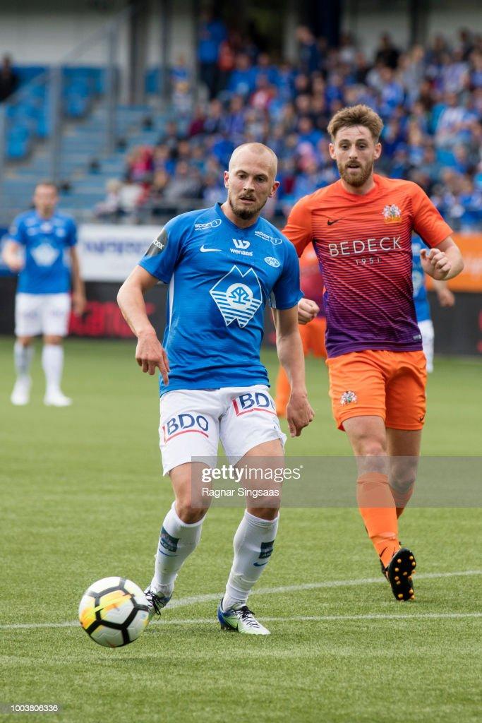 Eirik Hestad Of Molde Fk Controls The Ball During The Uefa Europa League Qualifier Between Molde