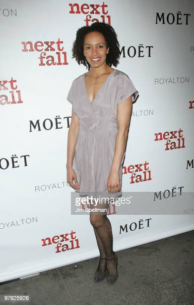 Eisa Davis attends a VIP performance of Next Fall on Broadway at the Helen Hayes Theatre on March 10 2010 in New York City