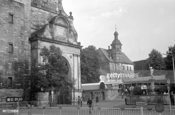 Eisenach in Thüringen Altstadt 1969 Reinhard Kaufhold Technische Qualität bedingt durch historische Vorlage