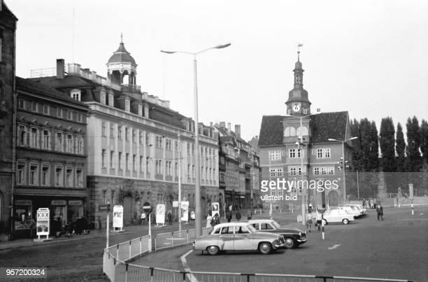 Eisenach in Thüringen Markt und Rathaus1969 Reinhard Kaufhold Technische Qualität bedingt durch historische Vorlage