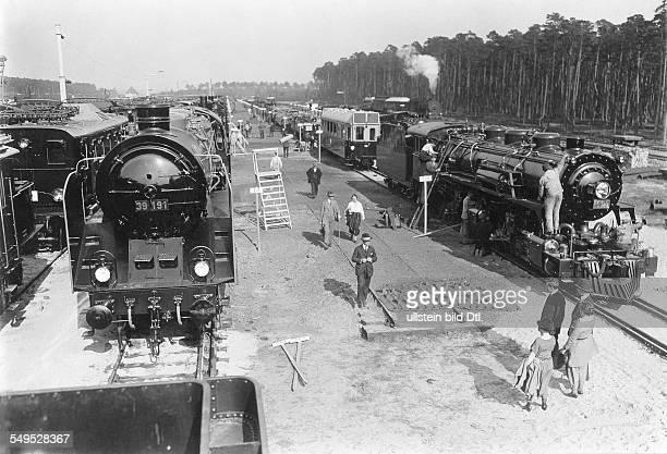 Eisenbahnausstellung in Seddin Ausstellungsgelände mit mehr als 100 Lokomotiven